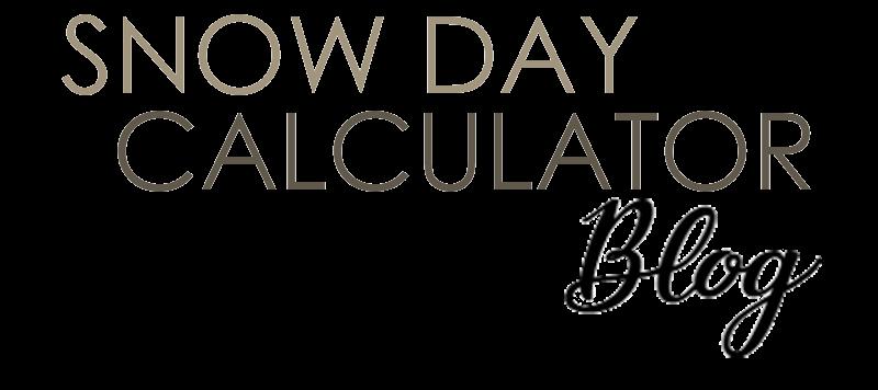 Snow Day Calculator Blog